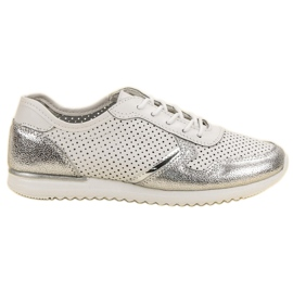 Filippo Zilveren lederen schoenen