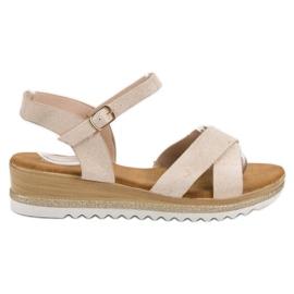 Bello Star bruin Suède sandalen