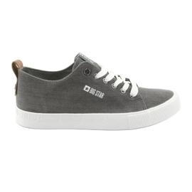 Grijs Grijze sneakers heren Big Star 174165