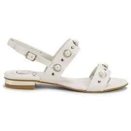 Kylie Comfortabele platte sandalen wit