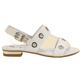 Kylie Casual witte sandalen