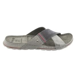 Grijze Inblu GG009-pantoffels heren