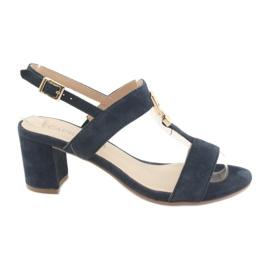 Sandalen op de post Caprice 28303 marineblauw