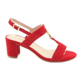 Rood Sandalen op de post rode Caprice 28303