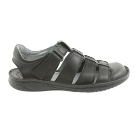 Herensport sandalen Riko 619 zwart