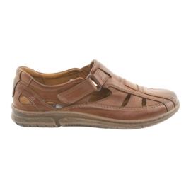 Riko 458 bruine heren comfort sandalen
