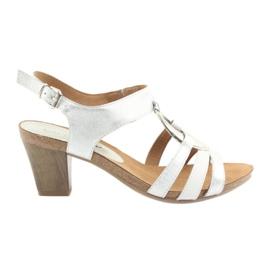 Caprice dames sandalen met versiering 28308 zilver ovaal