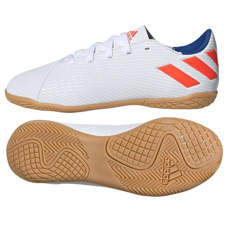 Binnenschoenen adidas Nemeziz Messi 19.4 In Jr F99928 wit wit