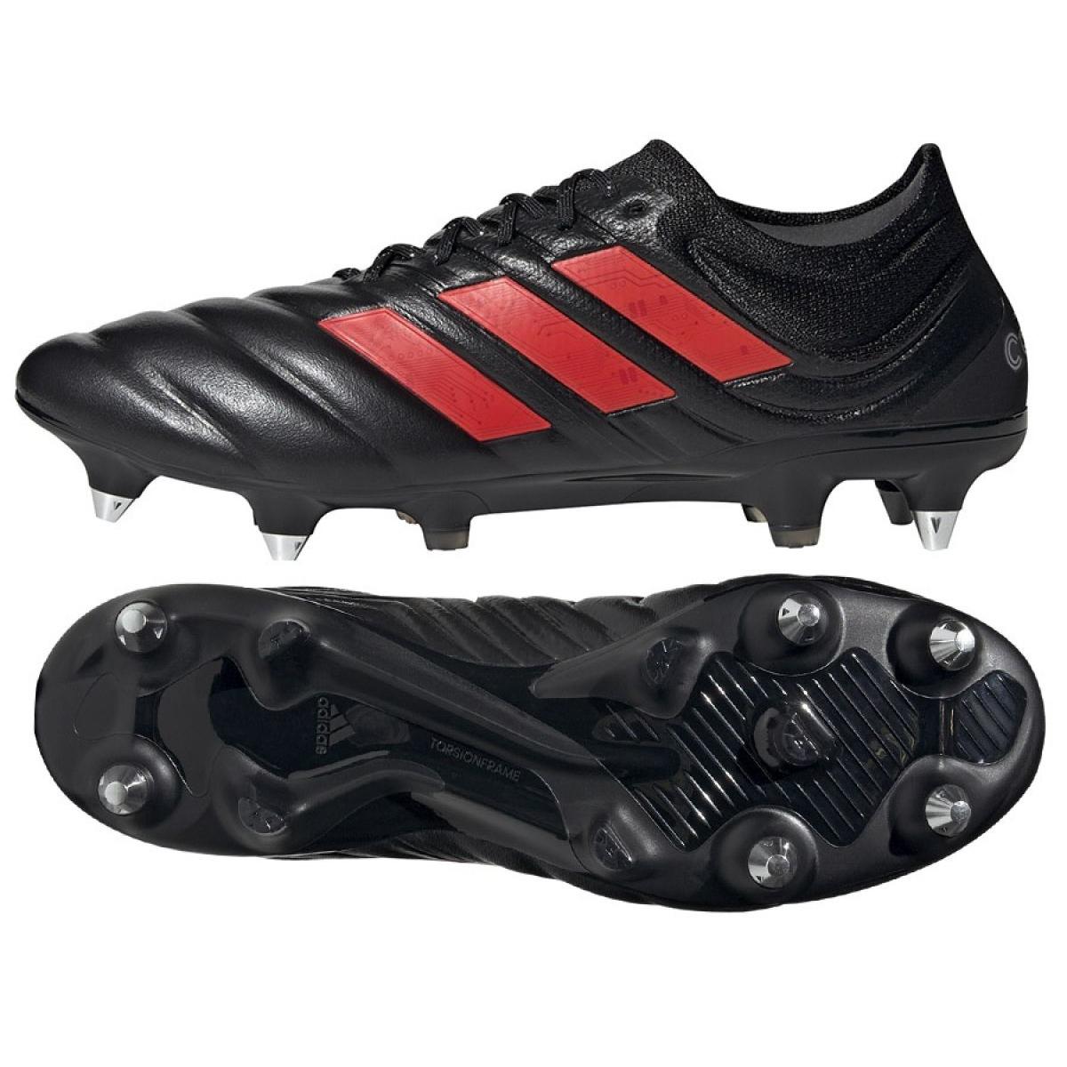 Adidas Copa 19.1 Sg M G26642 voetbalschoenen zwart, rood zwart