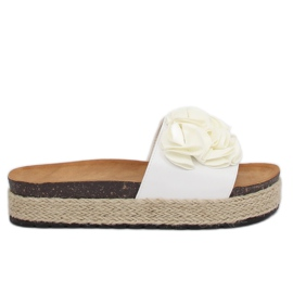 Slippers espadrilles wit N-35 Wit