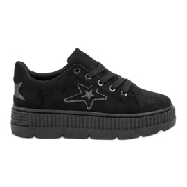 SHELOVET zwart Suede Creepers