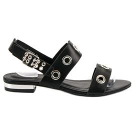 Kylie Casual zwarte sandalen