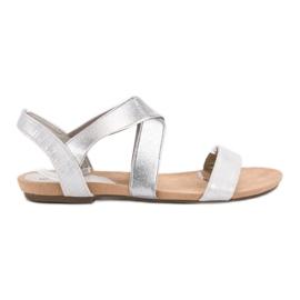 Evento grijs Slip-on sandalen met elastische band