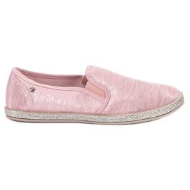 Balada Glanzende sneakers instapper roze