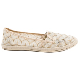 Beige Sneakers Slip On VICES bruin