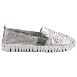 Filippo grijs Slip-on schoenen met Brocade