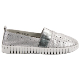 Filippo Slip-on schoenen met Brocade grijs