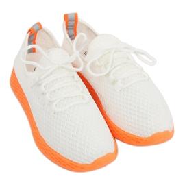 Sportschoenen wit en oranje NB283 Fluorescentie oranje