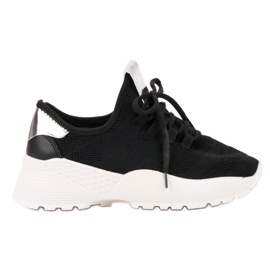 Vices zwart Textiel sportschoenen