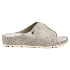 Goodin grijs Zilveren slippers