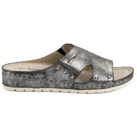 Goodin Comfortabele slippers grijs