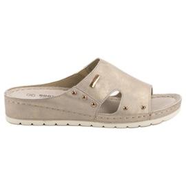 Goodin geel Comfortabele slippers