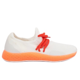 Sportschoenen wit-oranje B-6851 Oranje