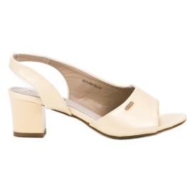 Goodin Elegante instap sandalen geel