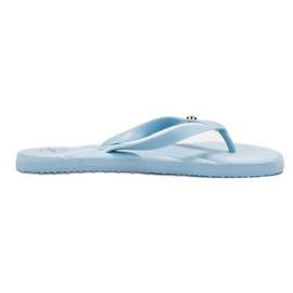 Ax Boxing blauw Flip-flops op het strand