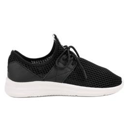 Lovery zwart Luchtige sportschoenen