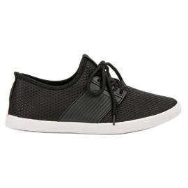 SHELOVET zwart Modieuze sportschoenen