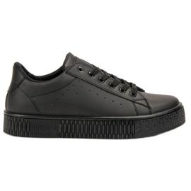 SHELOVET zwart Geregen sportschoenen