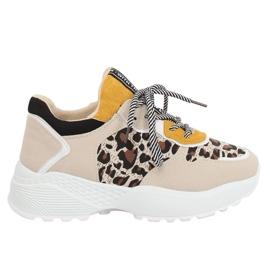 Bruin BL170P sportschoenen met luipaardprint