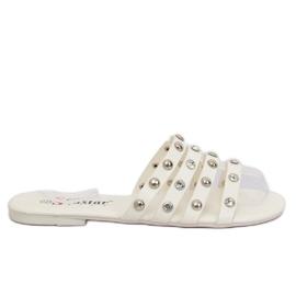 Witte damesslippers DD83P wit