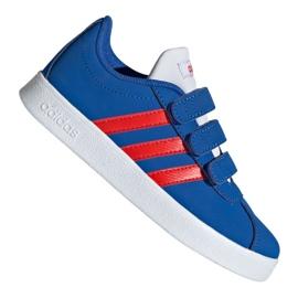 Blauw Adidas Vl Court 2.0 Cmf C Jr EE6904 schoenen