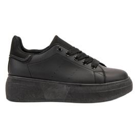 SHELOVET Zwarte sportschoenen