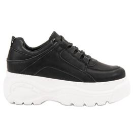SHELOVET zwart Vastgebonden schoenen op het platform