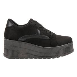 SHELOVET Zwart schoeisel op het platform