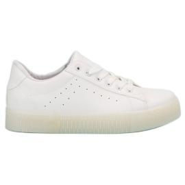 SHELOVET wit Geregen sportschoenen