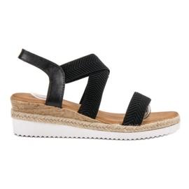 Bello Star zwart Slip Espadrilles sandalen