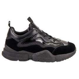 SHELOVET Modieuze zwarte sneakers
