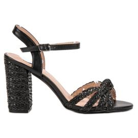 Zwart Gevlochten VICES-sandalen