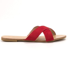 Primavera rood Comfortabele platte slippers