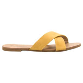 Primavera geel Comfortabele platte slippers