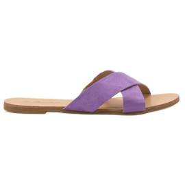 Primavera purper Comfortabele platte slippers
