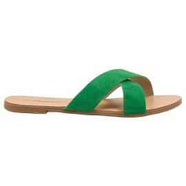 Primavera groen Comfortabele platte slippers