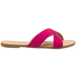 Primavera roze Comfortabele platte slippers