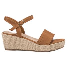 Vices bruin Platform sandalen