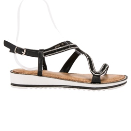 SHELOVET Sandalen op het platform zwart