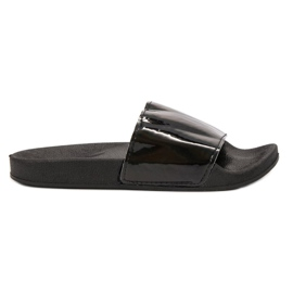 Small Swan Modieuze zwarte slippers